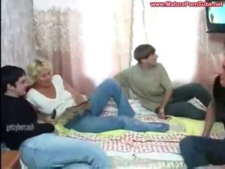 Porno Video of Russian Mature Regina And 3 Boys