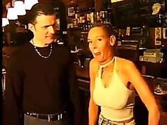 Dutch barlady fucks her admirer