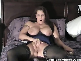 Porno Video of Busty Milf Wife Dildo & Play