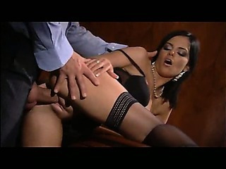 Porno Video of Black Angelica Office Anal