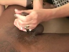 Dick pulling mature slut