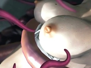 Porn Tube of Sexy 3d Hentai Brutally Poked All Hole By Tentacles