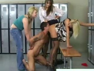Porno Video of Cfnm Fetish Femdom Bitch Rides Victims Cock