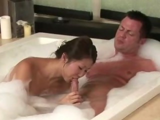 Porno Video of Sexy Bubble Bath Asian Gives Hot Massage
