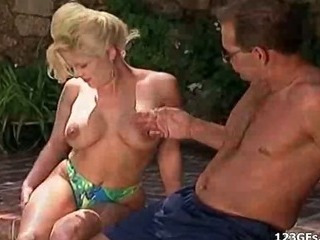 Porn Tube of Horny Girlfriends Gets Dp And Facialized At Pool