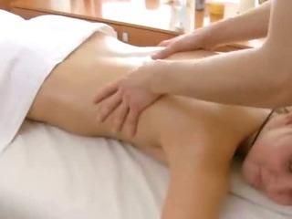 Porno Video of Foxy Petite Blonde Hottie Getting A Steamy Massage