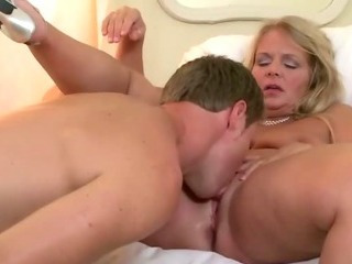 Porno Video of Plump Blonde Housewife With Charly