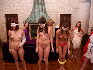 Porn Tube of Sexy American Amateur Teens Are Blindfolded And Have Lesbian Sex