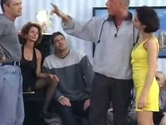 German classic filthy mother and daughter sperm party