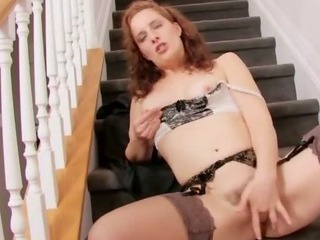 Porno Video of Real Stunning Natural Redhead Milf