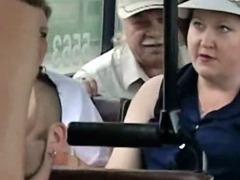 Public sex in public city bus in broad daylight