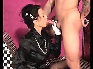 Porn Tube of Satin - Mature Sucks Dick