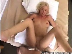 Moaning Blonde Gets Fucked