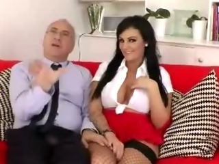 Porno Video of Brunette With A Pair Of Big Fake Tits Puts Them To Work