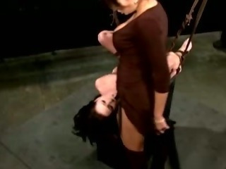 Porn Tube of Lezdom Nasty Mistress Dominates