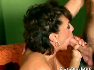 Porno Video of Horny Mature Slut In Fishnet Stockings
