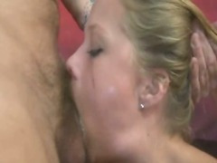 Teen blonde cutie extreme face fuck for her first time on camera