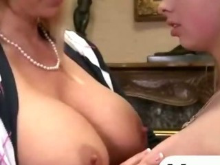 Porn Tube of Big Titted Blonde Mother And Daughter Enjoying Hot Threesome