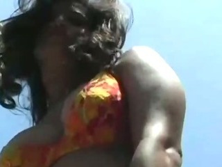 Porno Video of Busty Outdoor Babe Teasing