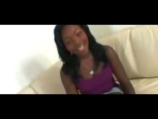 Porno Video of Auspicious Ebony Pussy Creampie