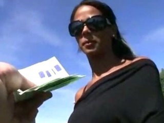 Porno Video of Tanned Czech Girl Payed For Hardcore Snatch Pounding In Public