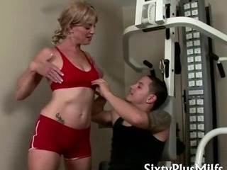 Porno Video of Blonde Mature Likes Young Sports Instructor