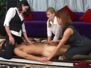 Porn Tube of Femdom Cfnm Fetish Bitches Pulling Victims Cock