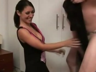 Porno Video of Sexy Cfnm Cheerleader Sucks On Cock