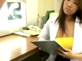 Porno Video of Japanese Nasty Nurse Gives Hot Handjob