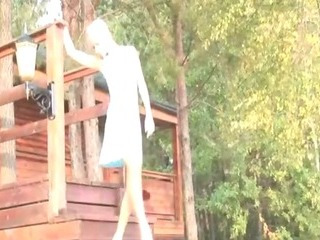Porno Video of Young Amateur Blonde Posing Outdoors