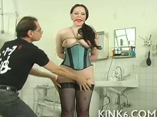 Porno Video of Slave Gagged And Pussy Whipped