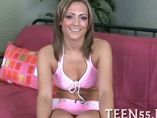 Porno Video of Pretty Teen Rides Massive Cock