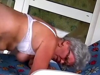 Porno Video of Stud Pounds Granny Her Aged Beaver