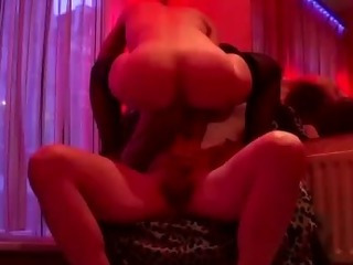 Porno Video of Amateur Guy Cums On Blonde Hookers Tits