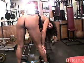 Porno Video of Rica - Big Clit Workout - Dirtymuscle