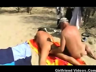 Porn Tube of Beach Wife Pussy & Ass Play