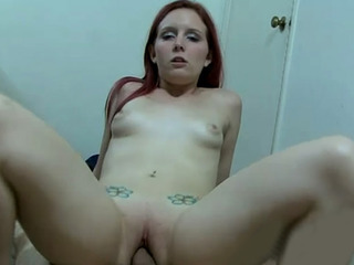 Porno Video of Sweet Redhead Chick Sucks And Rides On Top Of Rock Hard Meat Shaft