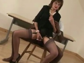 Porn Tube of Mature British Slut Tied Up Blowjob Action