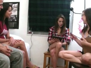 Porn Tube of College Amateur Girl Giving Blowjob While Being Graded