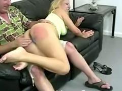 Lazy bitch gets a good spanking