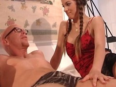 Threesome sex with two horny sluts