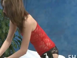 Porno Video of Girl Blowing During Massage