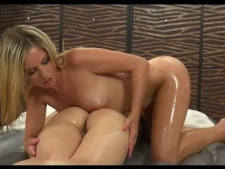 Porn Tube of Slippery Massage With Lesbians