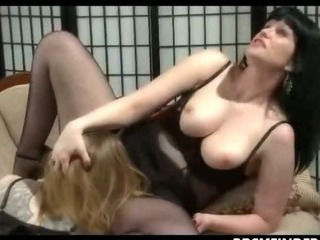 Sex Movie of Lesbian Femdom Domination In Stockings