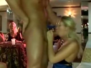 Porn Tube of Skanky Cfnm Blonde Gets Fucked