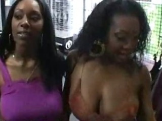 Porno Video of Two Hot Ebony Chicks Sucking And Fucking Big Cock