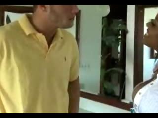 Porno Video of Guy Massaging And Fucking Ebony