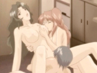 Porno Video of Japanese Hentai Threesome Fucked And Licked Tits