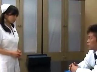 Porno Video of Hungry Asian Nurse Sucks On Cock