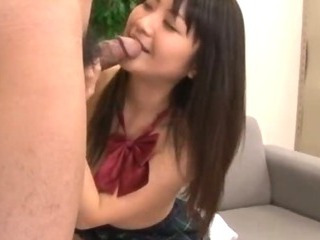 Porn Tube of Kanna Harumi  Asian Schoolgirl Shows Off